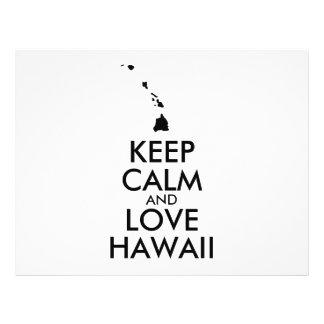 Customizable KEEP CALM and LOVE HAWAII 21.5 Cm X 28 Cm Flyer