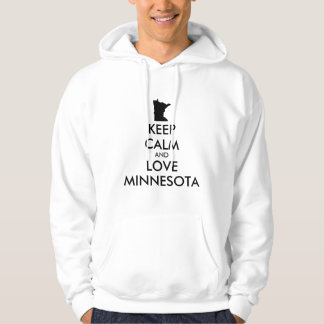Customizable KEEP CALM and LOVE MINNESOTA Hoodie