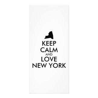 Customizable KEEP CALM and LOVE NEW YORK 10 Cm X 23 Cm Rack Card