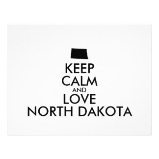Customizable KEEP CALM and LOVE NORTH DAKOTA 21.5 Cm X 28 Cm Flyer