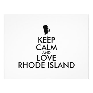 Customizable KEEP CALM and LOVE RHODE ISLAND 21.5 Cm X 28 Cm Flyer