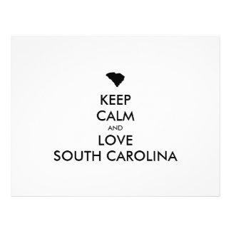 Customizable KEEP CALM and LOVE SOUTH CAROLINA Flyer