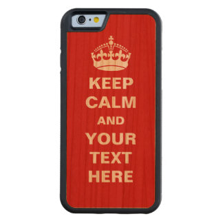 Customizable Keep Calm Carved® Cherry iPhone 6 Bumper
