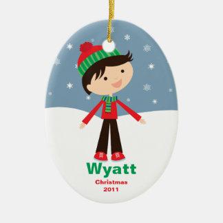 Customizable Kids Christmas Ornament