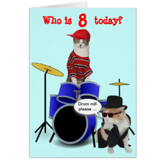 Customizable Kid's Drum Roll Birthday Card