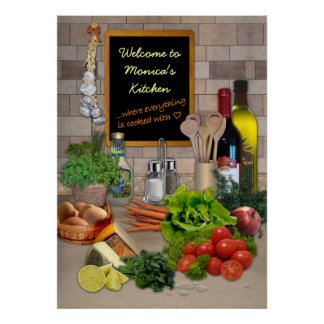 Customizable Kitchen Poster
