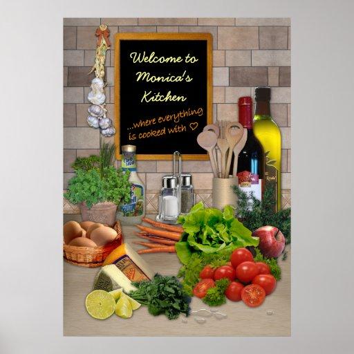Customizable Kitchen Poster