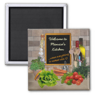 Customizable Kitchen Square Magnet