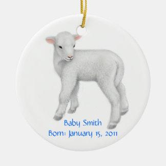 Customizable Lamb Ornament