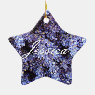 Customizable Lavender Ceramic Star Decoration