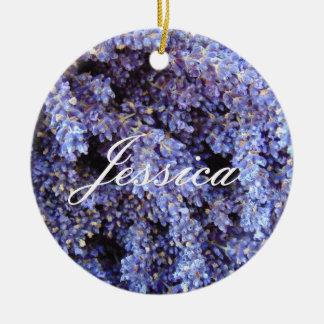 Customizable Lavender Round Ceramic Decoration