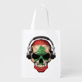 Customizable Lebanese Dj Skull with Headphones