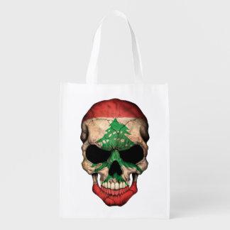 Customizable Lebanese Flag Skull