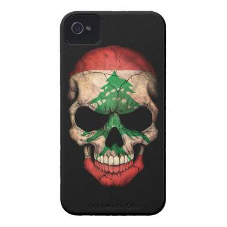 Customizable Lebanese Flag Skull iPhone 4 Case-Mate Case