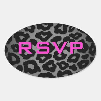 Customizable Leopard Oval Sticker