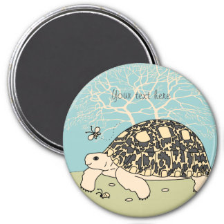Customizable Leopard Tortoise Magnet