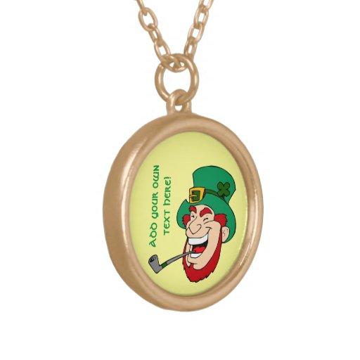 Customizable Leprechaun Personalized Necklace
