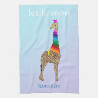 Customizable: Let it snow Tea Towel