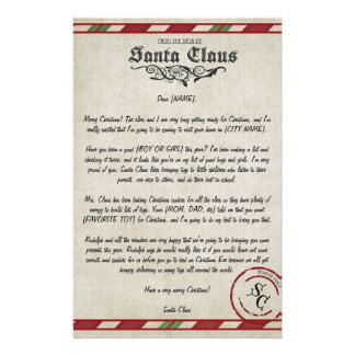 Customizable Letter From Santa Stationery