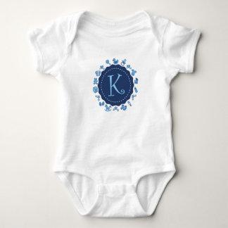 """Customizable Letter """"K"""" Baby Bodysuit"""