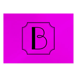 Customizable Letter Square Cut Corner Magenta Business Card Template