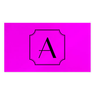 Customizable Letter Square Cut Corner Magenta Business Cards