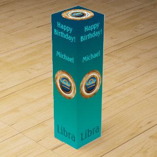Customizable Libra Zodiac Sign Wine Box