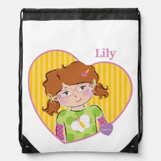 Customizable Lily Drawstring Bag