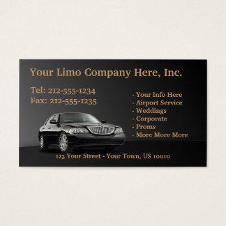 CUSTOMIZABLE Limousine Business Cards