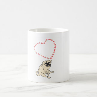 Customizable Love Pug Coffee Mug