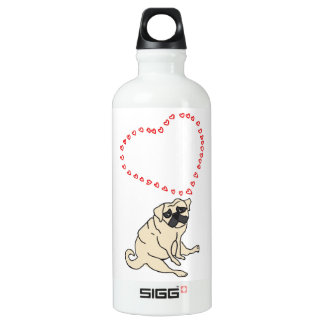 Customizable Love Pug Water Bottle
