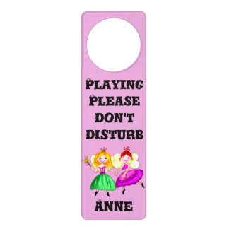 Customizable lovely princess fairies door hanger