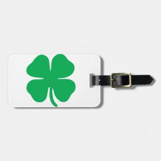 Customizable Lucky Four Leaf Clover Luggage Tags
