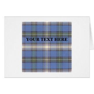 Customizable MacDowall Tartan Greeting Card