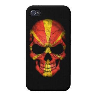 Customizable Macedonian Flag Skull iPhone 4 Case