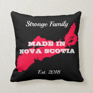 Customizable Made in Nova Scotia Throw Pillow
