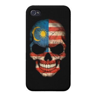 Customizable Malaysian Flag Skull iPhone 4/4S Cover