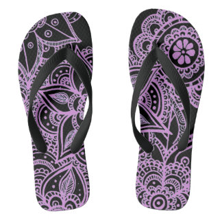 customizable mandala unisex flip flops