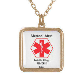 Customizable Medical alert necklace