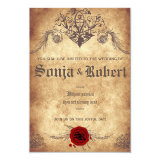 customizable medieval fantasy wedding invitation - Medieval Wedding Invitations