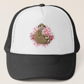 Customizable Meerkat Momma and Baby Trucker Hat