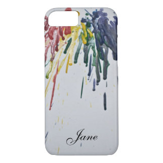 Customizable Melted Crayons iPhone 8/7 Case