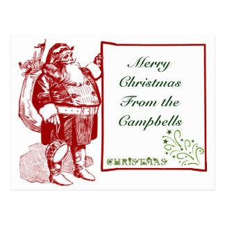 Customizable Merry Christmas Postcards