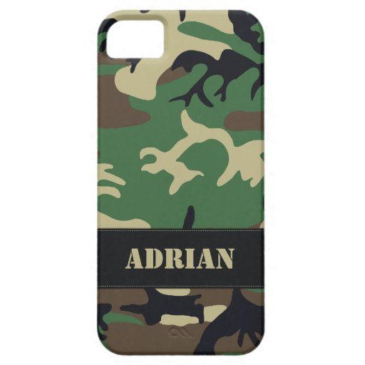 Customizable Military Camo iPhone 5 Cases