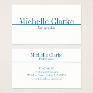 Customizable Minimalist Professional Business Card