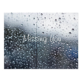 Customizable Missing You Rain Postcard