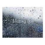 Customizable Missing You Rain Postcards