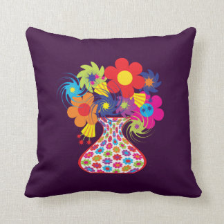 Customizable Mod Floral Throw Pillow