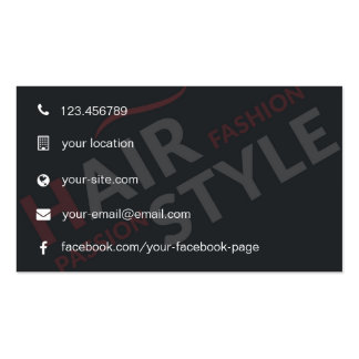 Customizable & Modern Hair Style Business Card