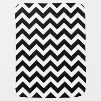 Customizable Modern Large Black Chevron Design Baby Blanket